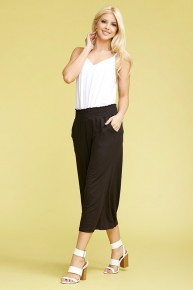 Just Breathe Smoked Waist Gaucho Pants in Multiple Colors Sizes 10-20