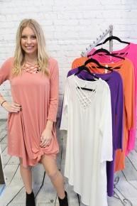 Take It Easy Lattice Dress - Sizes 4-20