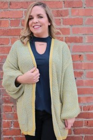 Everlasting Love Waffle Knit Cardigan with Bubble Sleeve Sizes 4-10