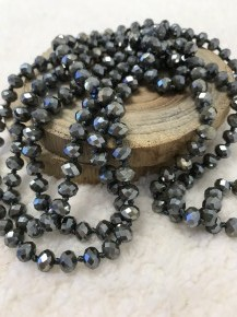 Point Of Perfection Beaded Necklace In Dark Olive
