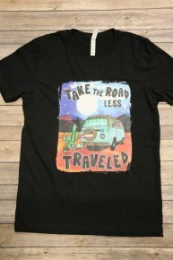Take The Road Less Traveled Graphic Tee In Black- Sizes 4-20