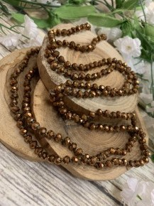Point Of Perfection Beaded Necklace In Bronze