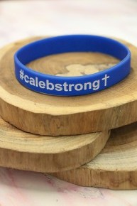 #Caleb Strong Bracelet In Blue