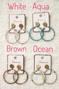 On The Go  Beaded Hoop Earring In Multiple Colors