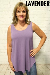 Best Time Ever Basic Tank With Scoop Hem- Sizes 4-20 *Final Sale*