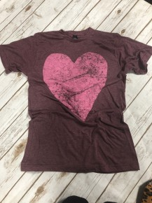 Open To Love Graphic Tee in Burgundy - Sizes 4-20