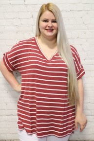 Perfectly Perfect Striped Top in Multiple Colors - Sizes 4-20