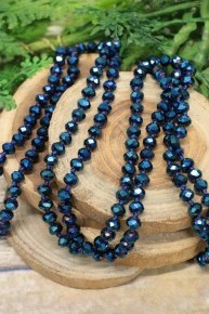 Point Of Perfection Beaded Necklace In Sapphire