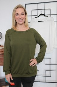 As You Have It French Terry Wide Neck Sweatshirt - Multiple Colors - Sizes 4-10