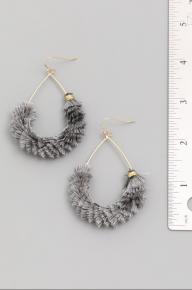 Hey Girl Teardrop Tassel Earrings ~ Multiple Colors