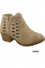 My Side Cut-Out Booties In Taupe - Sizes 5.5-10