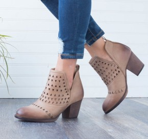 I'm A Believer Taupe Bootie