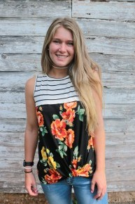 Never Gets Old Striped & Floral Top - Sizes 4-10
