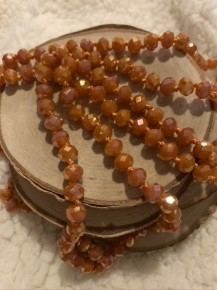 Point Of Perfection Beaded Necklace In Burnt Orange