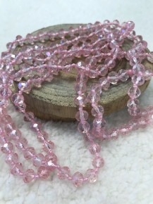 Point Of Perfection Beaded Necklace In Baby Pink