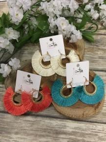 Cheerful Smile Circle Tassel Earrings in Multiple Colors