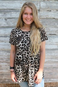 Oh So Magical Leopard Babydoll Top- Sizes 4-10