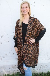 With Every Heart Leopard Kimono- One Size