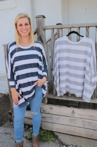 How's It Going Striped Top - Multiple Colors - Sizes 4-10