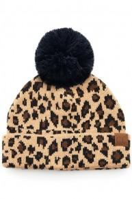 Do You Hear Me Leopard Pom CC Beanie
