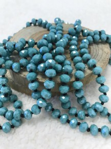 Point Of Perfection Beaded Necklace In Maya Blue