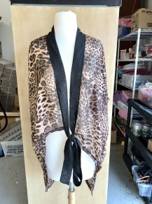 Feeling Like An Animal Leopard Short Kimono with Tie