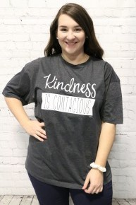 Kindness Is Contagious Graphic Tee In Gray Sizes 4-20