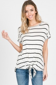 Remind Me Striped Top With Tie - Sizes 4-10