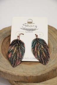 Colors Of The Wind Tin Leaf Earrings
