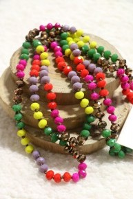 Point Of Perfection Beaded Necklace in Tutti Frutti