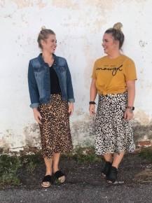 Look Up Child Satin Midi Leopard Skirt - Sizes 4-10