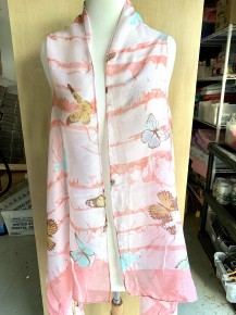 It's About Time Butterfly Print Sheer Kimono Vest with Tassels