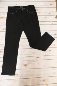 This Is The Way Black Denim Jeans With Rhinestones - Sizes 14-22