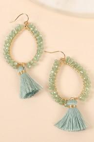 Mint For You Tassel Earrings