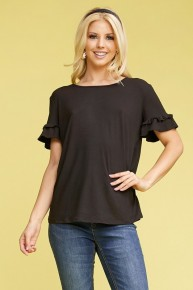 Dream About This Ruffle Sleeve Top In Multiple Colors- Sizes 12-20