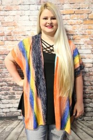 Enjoy the Moment Serape Kimono - One Size Fits Most - Sizes 4-20