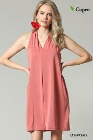 Coming Back Mauve Halter Dress- Sizes 4-10