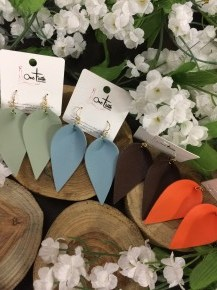 Soaring Above Leather Leaf Earrings in Multiple Colors