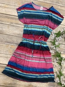 Cant Stop The Fun Serape Dress With Tie- Sizes 4-20