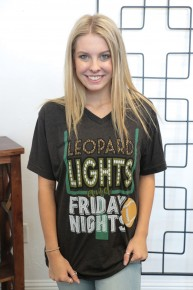 Leopard, Lights & Friday Nights Graphic Tee Sizes 4-12
