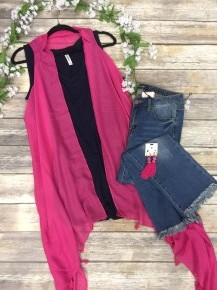 Anything Is Possible  Vest With Tassels-One Size
