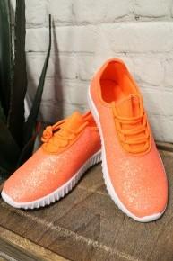 Most Wonderful Life Orange Glitter Sneaker