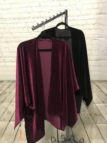 Want You to Love Me Pleated Velvet Kimono in Multiple Colors-One Size