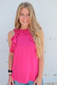 Always Show Up Ruffle Sleeveless Top in Multiple Colors- Sizes 4-12
