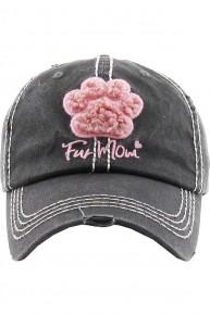 Fur Mom Paw Print Ball Cap In Multiple Colors