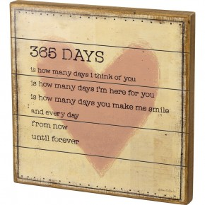 365 Days Box Sign