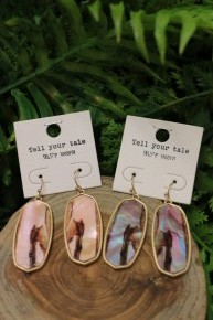 Who Says Oval Stone Earrings In Multiple Colors