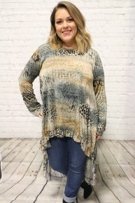 What A Great Find Animal Print Hi-Lo Top - Sizes 4-10