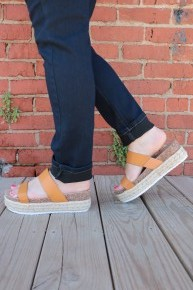 One Of A Kind Double Strap Espadrille Platform Sandals in Multiple Colors