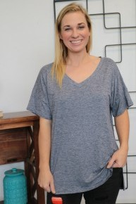 It Is What It Is V-Neck Short Sleeve Tunic Sizes 4-12